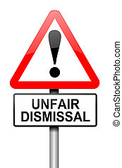 Unfair dismissal concept - Illustration depicting a road...