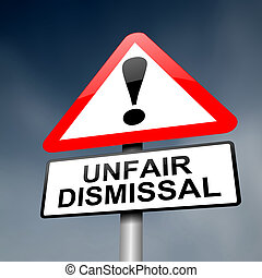 Unfair dismissal concept. - Illustration depicting a road...