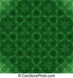 Abstract green geometric seamless pattern