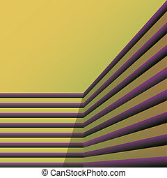 abstract stripes in a corner - illustration