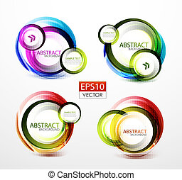 Round swirl banners - Colorful bubble shaped swirl banners