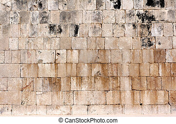 Detail of Small Mayan Pyramid at Chichen Itza - Irregular...