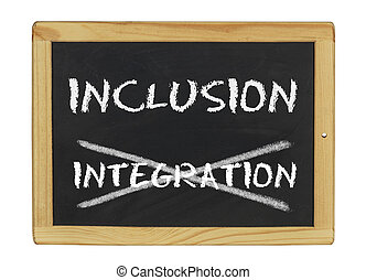 inclusion istead of integration