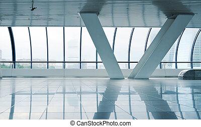 Long corridor with column