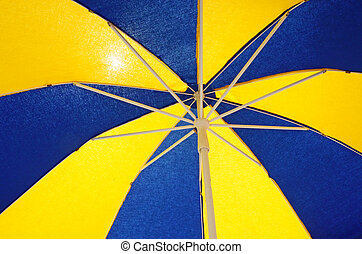 Colorful sun umbrella background
