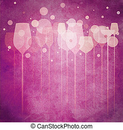Pinky Party Glasses - A funky illustration of various...
