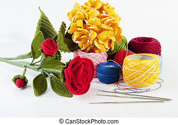 crochet flowers - crocheted flowers made by expert hands