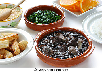 feijoada, brazilian cuisine - black beans and meat stew