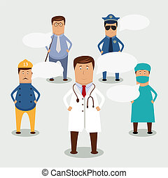 People - Vector professional occupation set