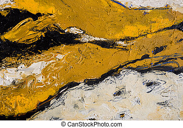an abstract expressionistic acrylic painting in browns