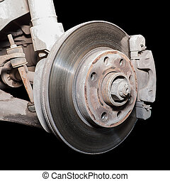 brake disc - The former used a little rusty brake disc.