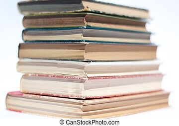 Books in a stack