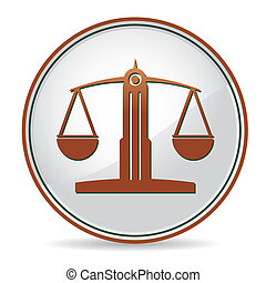 balance icon - law balance icon in brown color