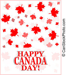 Happy Canada Day greetings card - Happy Canada Day - vector...
