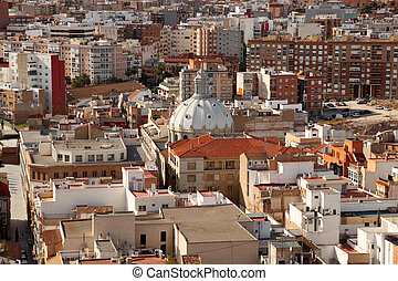 View over the city of Cartagena, Spain