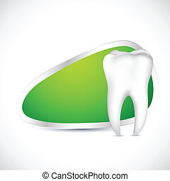 Dental Template - illustration of healthy teeth with copy...