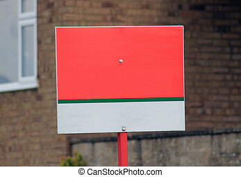 Blank for sale sign
