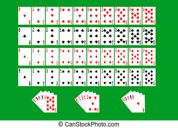 Partial deck of playing cards - Ace to ten deck of...
