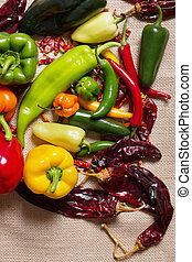 Chilli pepper still life - Stock image of chilli pepper...