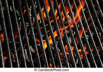 Charcoal fire grill - Stock image of charcoal fire grill,...