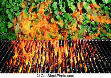 Charcoal fire grill - Stock image of charcoal fire grill...
