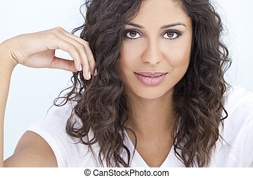 Beautiful Latina Hispanic Woman - Studio portrait of a...