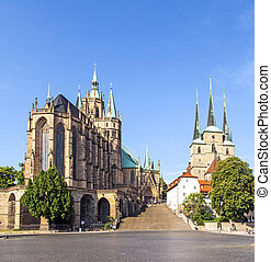 Dom hill of Erfurt Germany  - Dom hill of Erfurt Germany