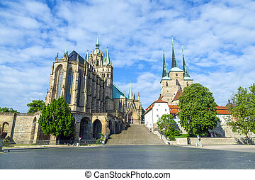 Dom hill of Erfurt Germany  - Dom hill of Erfurt Germany