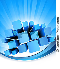 Abstract blue background. Vector - Abstract blue background....