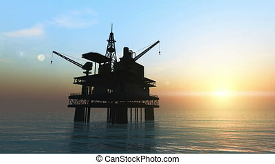 oil platforms - image of oil platforms