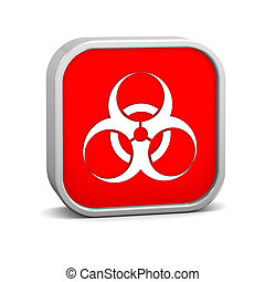 Biohazard sign on a white background. Part of a series.