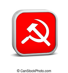 Communism sign on a white background. Part of a series.