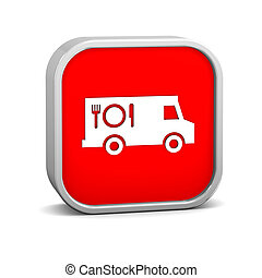 Food truck sign on a white background. Part of a series.