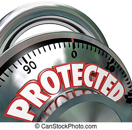 Protected Combination Lock Security Protection - A...