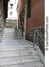 steps in ancient town - stairs in the hostoric city of...