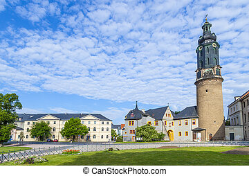 City Castle of Weimar in Germany - City Castle of Weimar in...