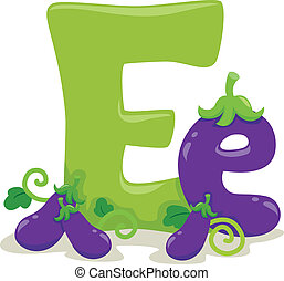 Letter E - Illustration Featuring the Letter E