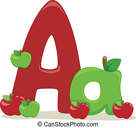 Letter A - Illustration Featuring the Letter A