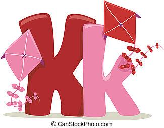 Letter K - Illustration Featuring the Letter K