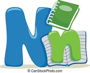 Letter N - Illustration Featuring the Letter N