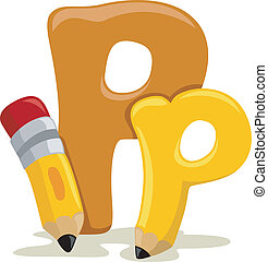 Letter P - Illustration Featuring the Letter P