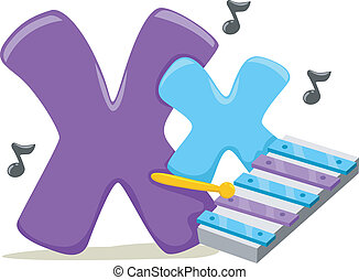 Letter X - Illustration Featuring the Letter X