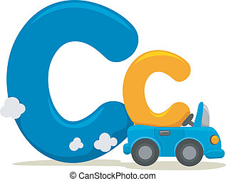 Letter C - Illustration Featuring the Letter C