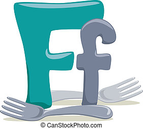 Letter F - Illustration Featuring the Letter F