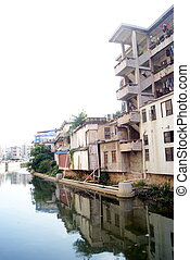The river of old buildings