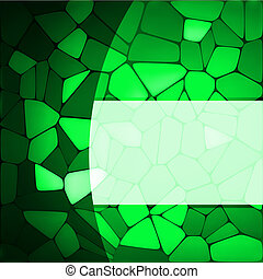 Stained glass design template EPS 8 vector file included