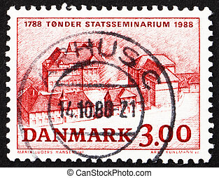 Postage stamp Denmark 1988 Tonder Teachers Training College...