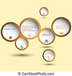 Stylish web design bubble