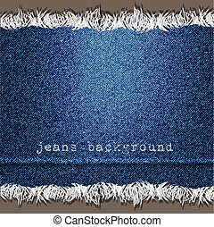 Background of Denim texture Vector eps10