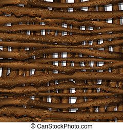 Background of brown branches